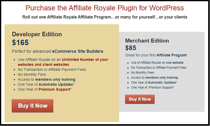 Affiliate-Royale-Pricing